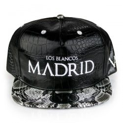 Madrid Black Crocodile Strapback