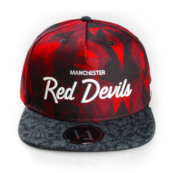 Red Devils Pattern Strapback