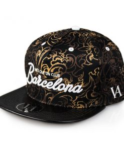 barcelona-gold-snapback-side