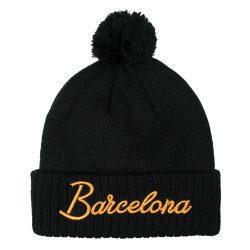 Barcelona Black Beanie