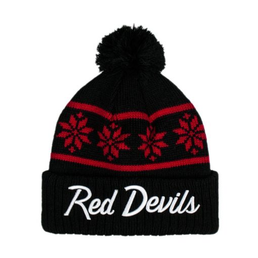 Red Devils Away Snowflake Beanie